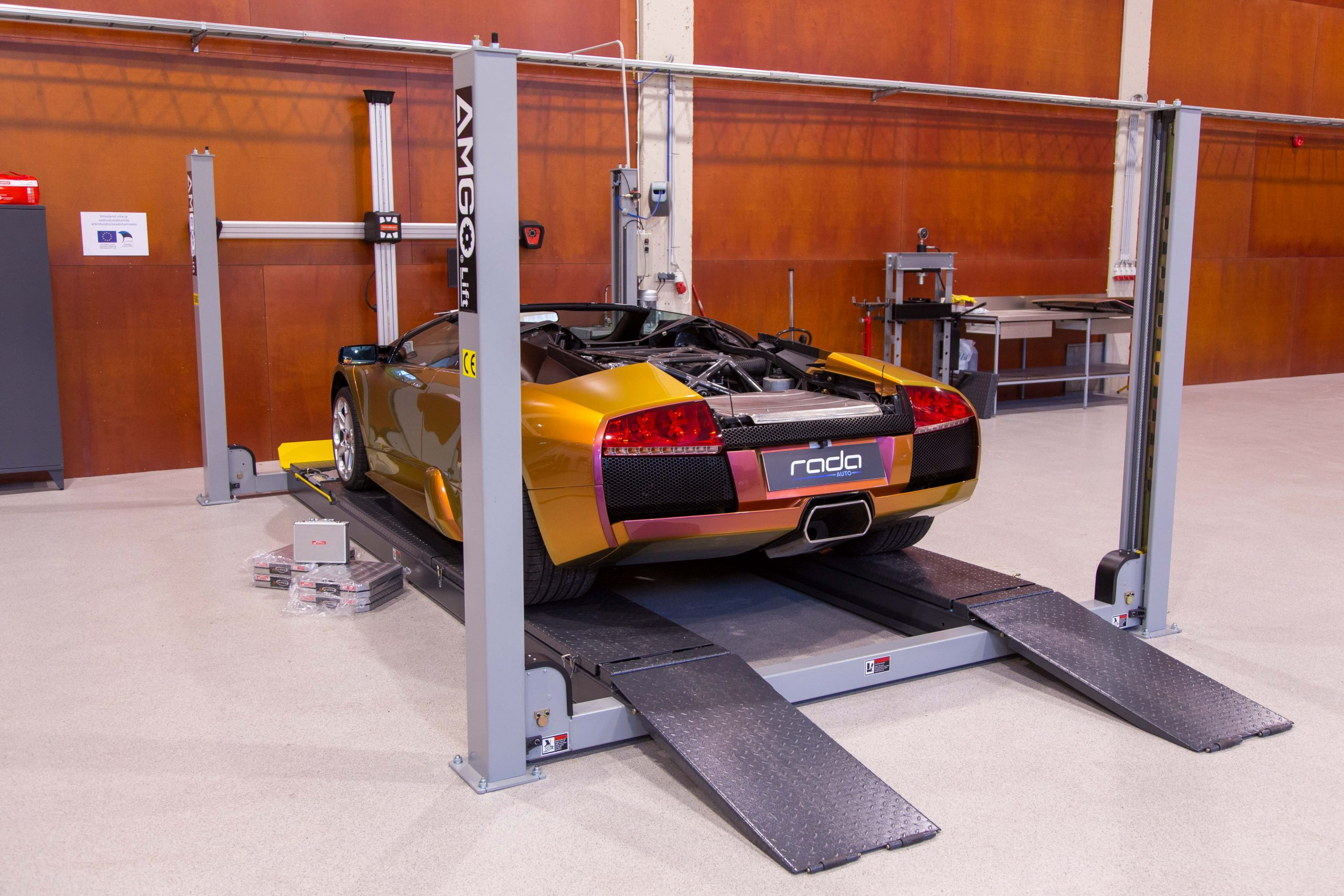 Wheel alignment and corner weights